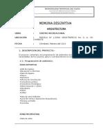 002-Memoria Descriptiva Arquitectura