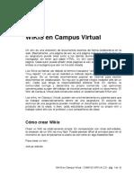 Wikis en Campus Virtual