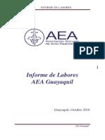 Informe de Labores Centro AEA Guayaquil