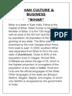 Indian Culture & Bissiness Bihar