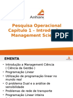 Capítulo 1 - Introdução a Management Sciences