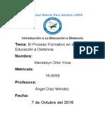 El Proceso Formativo en La Educación a Distancia #IV