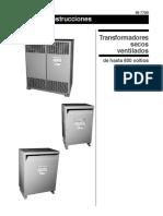 Mantenimiento Transformadores Secos de 300 y 500 KVA
