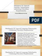 Washington DC Speech Language Pathologists Continuing Education Requirements