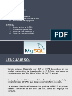 Comandos DDL y DML MySQL