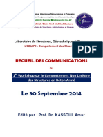 Recueil Des Communications- 1- Workshop