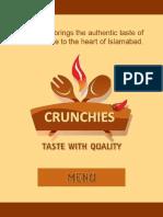 Crunchies Menu