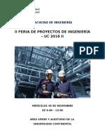 Bases_ii Feria de Proyectos de Ingeniería - Uc 2016 II