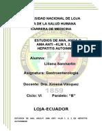 Estudios de Ana, Anca-p. Ama Anti –Klm 1, 2, 3 en Hepatitis Autoinmune
