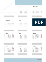 Calendario Ano Azul