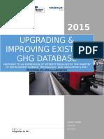 Upgrading & Improving Existing GHG Database v1