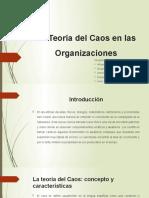 La Teoría Del Caos en Las Organizaciones
