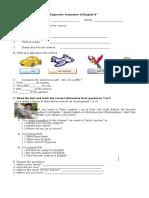 Diagnostic Evaluation of English 6