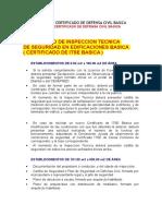 Requisitos Para Certificado de Defensa Civil Basica