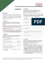Worksheet5 Prepositions