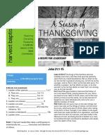 Thanksgiving Leadership John 21-11-15 Handout 112716