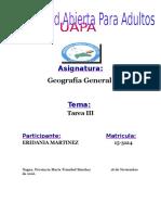 Tarea III Geografia General Eridania Martinez