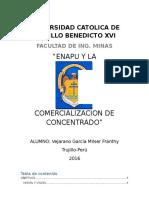 COMERCIALIZACIÓN DE CONCENTRADO DE MINERALES
