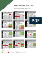 Calendário de Aulas 2016