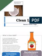 Clean Label Report