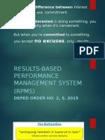 Rpms-commitment & Target Setting