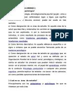 Psicopatología Unidad i