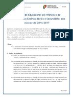 Nota Informativa Do Concurso de Educadores de Infância e de Professores Dos Ensinos Básico e Secundário –2