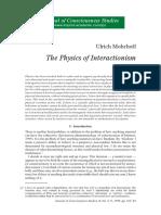 Livre Arbítrio Quântica a Física Do Interacionismo Ulrich Mohrhoff
