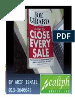 How To Sell Yourself Joe Girard Ebook