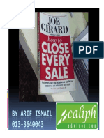 How to Close Every Sale by Joe Girard