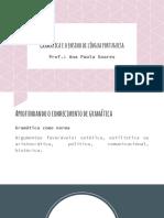 Gramática e o ensino de língua portuguesa