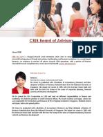 CRIB Board of Advisors