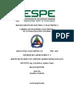 INFORME 2.3 Filtros Electrónica