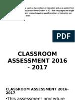 NEW K to 12 Assessment 16 - 17