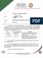 Regional Memorandum No. 198 S. 2016