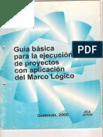 2 Guía Básica Para La Ejecución de Proyectos Con Aplicación Del Marco Lógico
