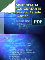 resistencia la esfuerzo cortante y la teoría del estado critico - mecánica de suelos