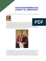 Bolivar, Un Dictador Imperialista