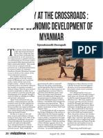 Myanmar's Economic Policy - Crossroads