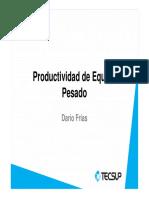 2.1 - Productividad de Cargador Frontal