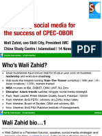 Leveraging Social Media for CPEC-OBOR - Wali Zahid