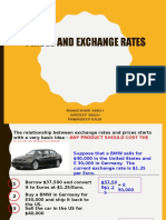 Exchange rate and PPP