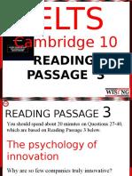 Cambridge 10 Reading 3