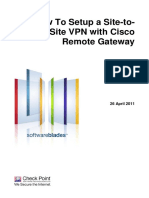 HowTo Setup SiteToSite VPN With CiscoRemoteGateway