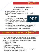 7.Income Tax on Salaries