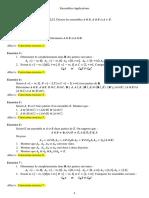Exercices Corriges Ensembles Et Applications