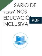 GLOSARIO EDUCACIÓN INCLUSIVA  Mi Planeación de clase®