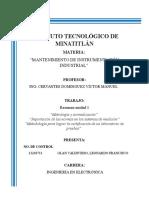Resumen Unidad 1 Mantenimiento a instrimentacion industrial
