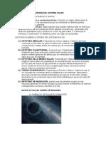 Teorías Sobre El Origen Del Sistema Solar (1)