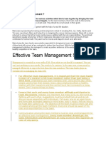 What is Team Management
